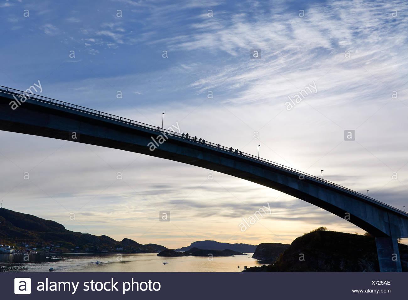 Bridge over the Stokksund, Norway Stock Photo