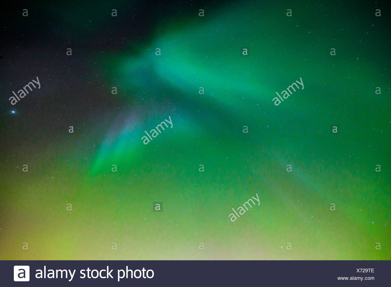 Aurora Borealis in Oulu, Finland - Stock Image