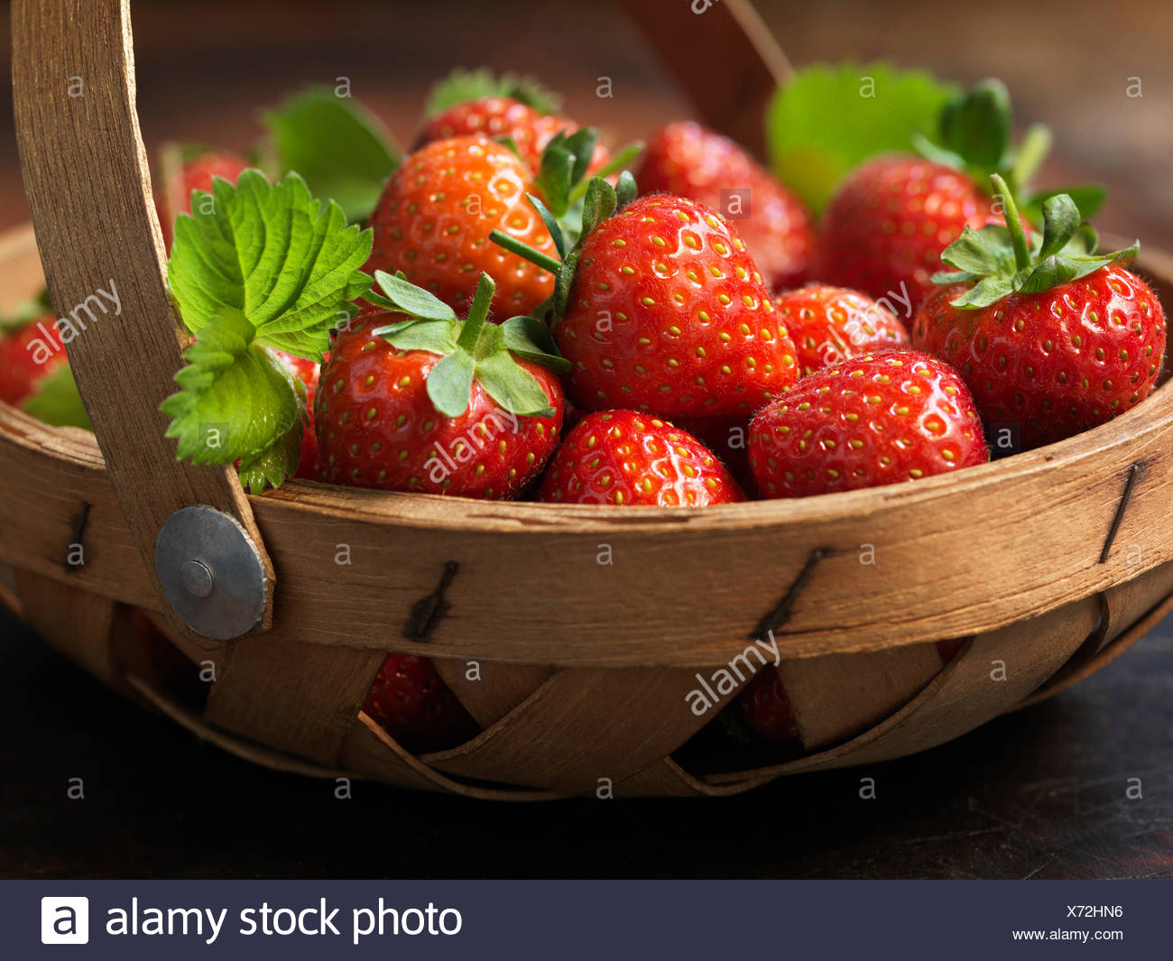 Fresh organic fruit, jubilee strawberries - Stock Image