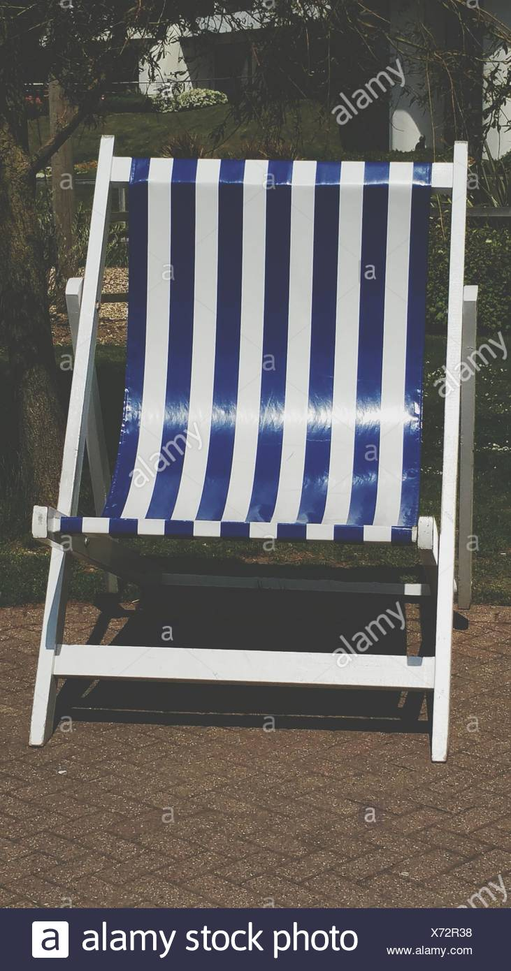Striped Lounge Chair   Stock Image