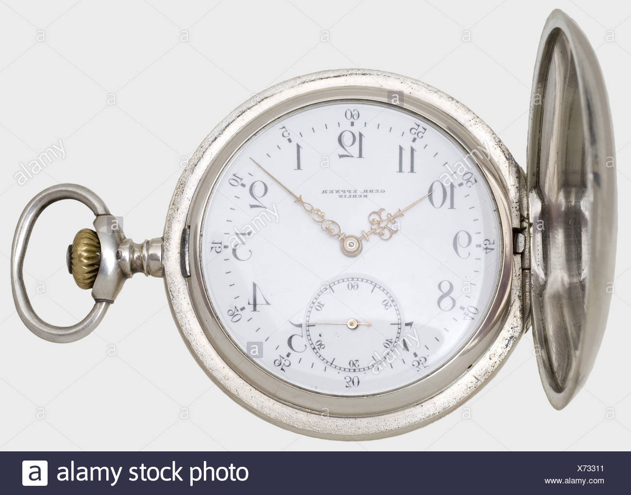 Original Period Items Antique Kaiser Wilhelm I Franc Prussian War Silver Running Ladies Pendant Watch
