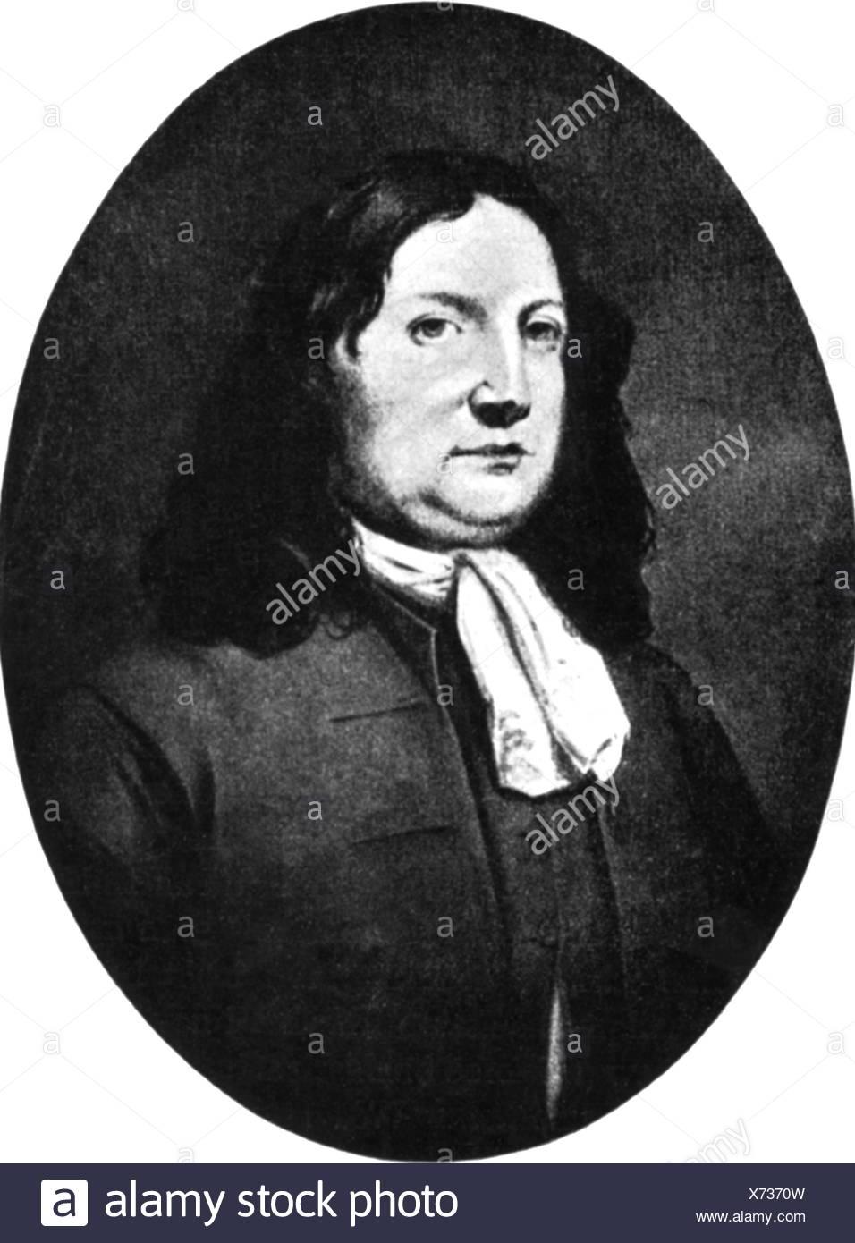 Penn, William, 14.10.1644 - 30.7.1718, English politician, Quaker, founder of Pennsylvania, portrait, oval, Stock Photo