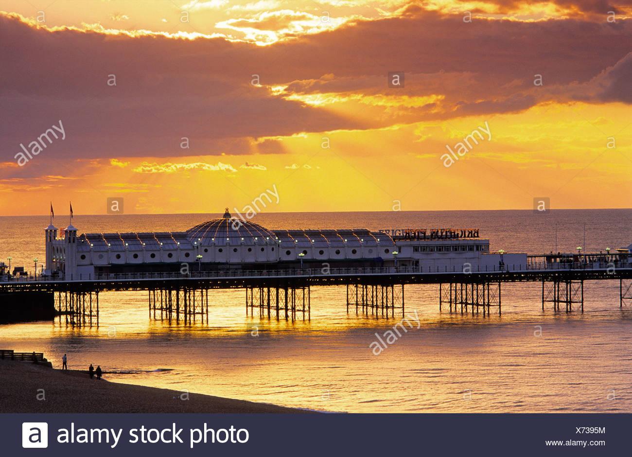 Europe, England, East Sussex, Brighton, Brighton Pier - Stock Image