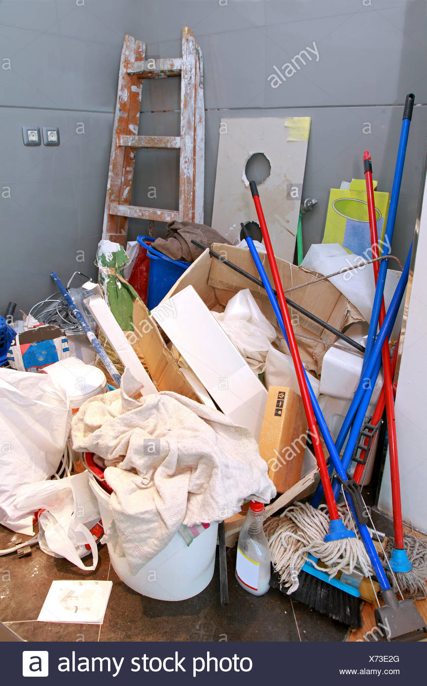 Cleaning mess - Stock Image