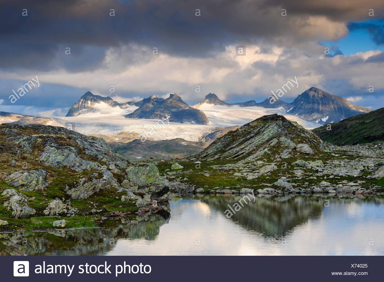 Berg, Fjell, Jotunheimen Nationalpark, Oppland, Norwegen - Stock Image