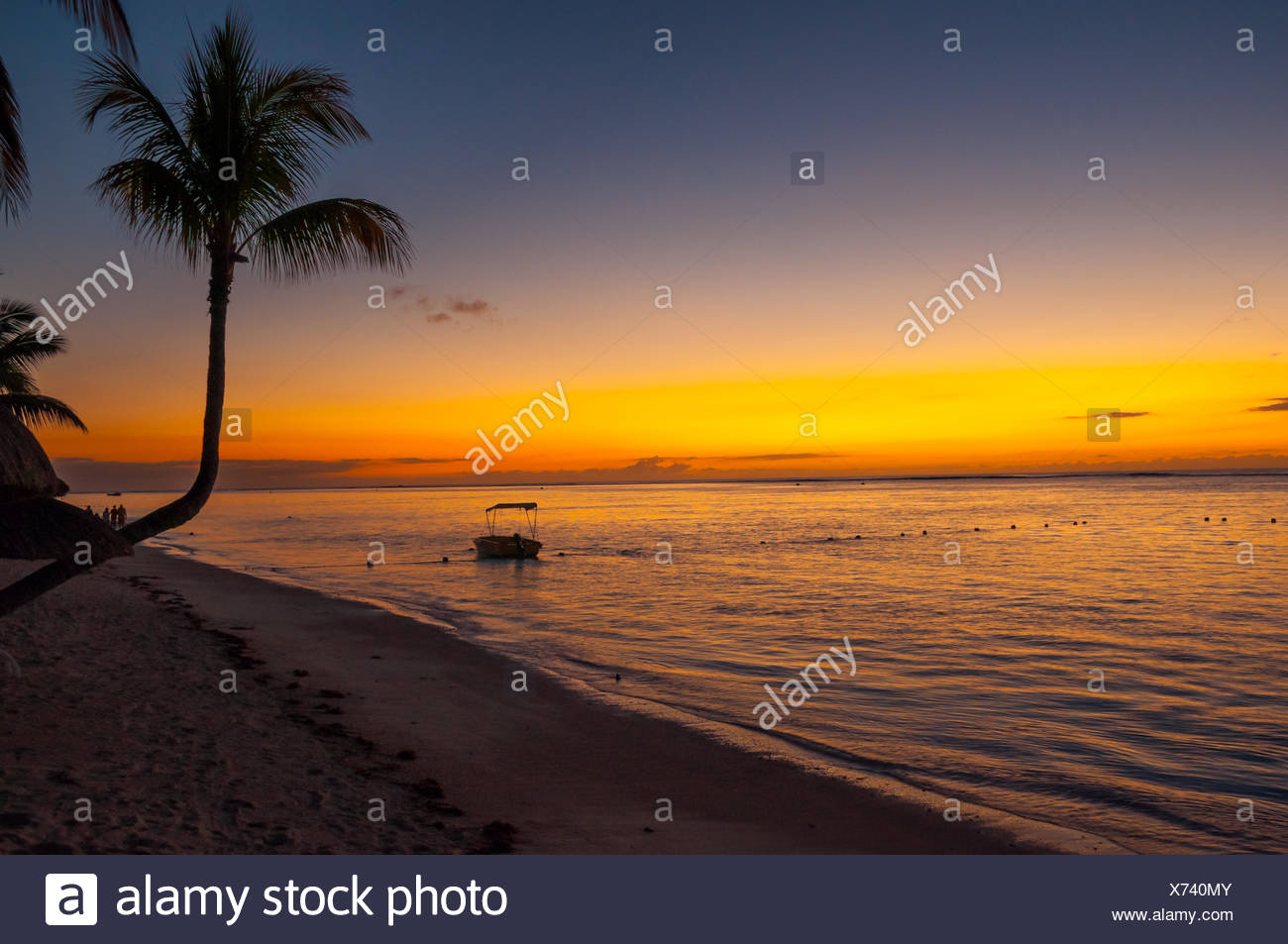 Sunset in Mauritius - Stock Image