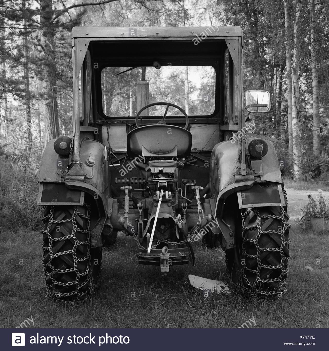 A tractor Malung Dalarna Sweden - Stock Image