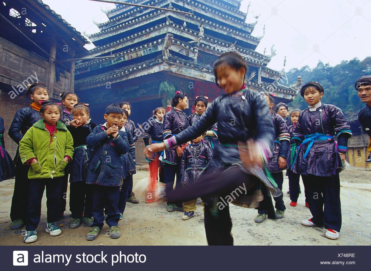 Chinese dai minority - Stock Image