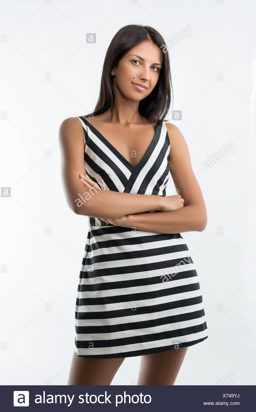 Girl in dress - Stock Image