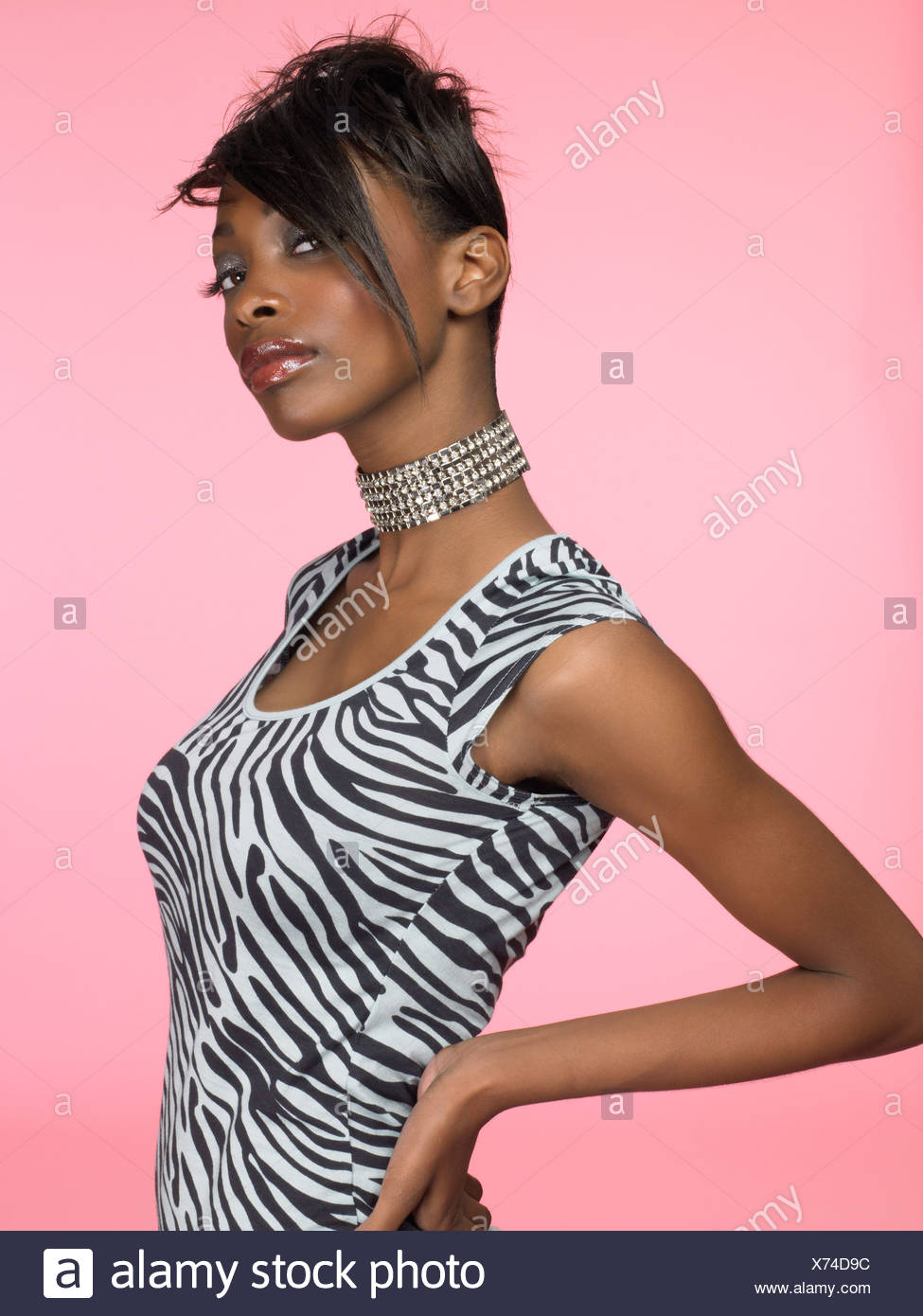 Portrait of a stylish young woman - Stock Image