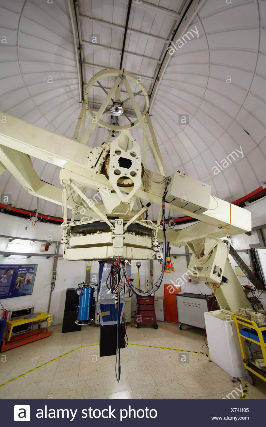 The Carlos Sanchez Telescope TCS, Observatorio del Teide, Tenerife, Canary Islands, Spain   The Carlos Sánchez Telescope TCS, - Stock Image