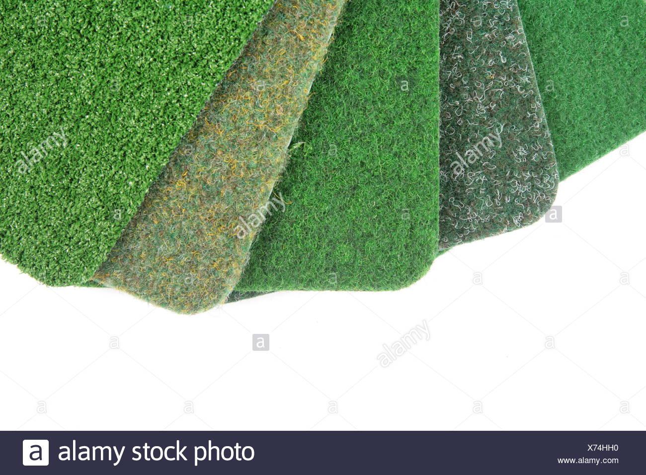 mat artificial turf meadow grass lawn green mat offer artificial turf team Stock Photo