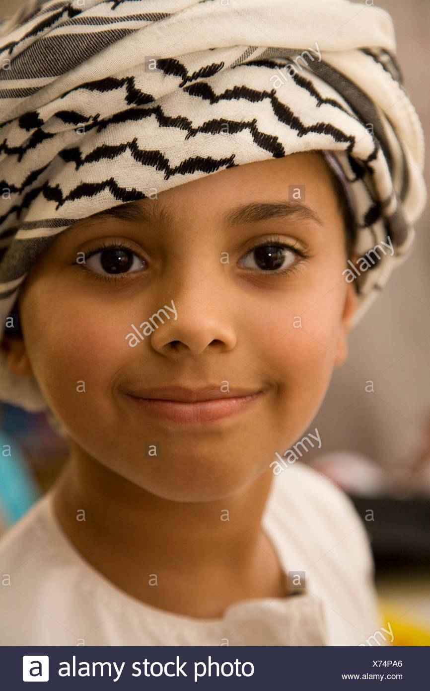 Boy (6-7) smiling, close-up, portrait Stock Photo
