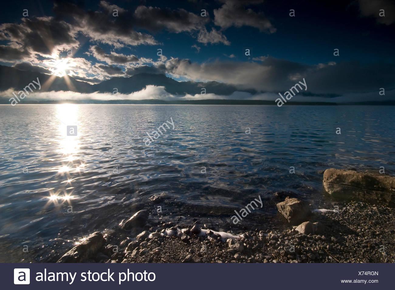 fresh water lake inland water - Stock Image