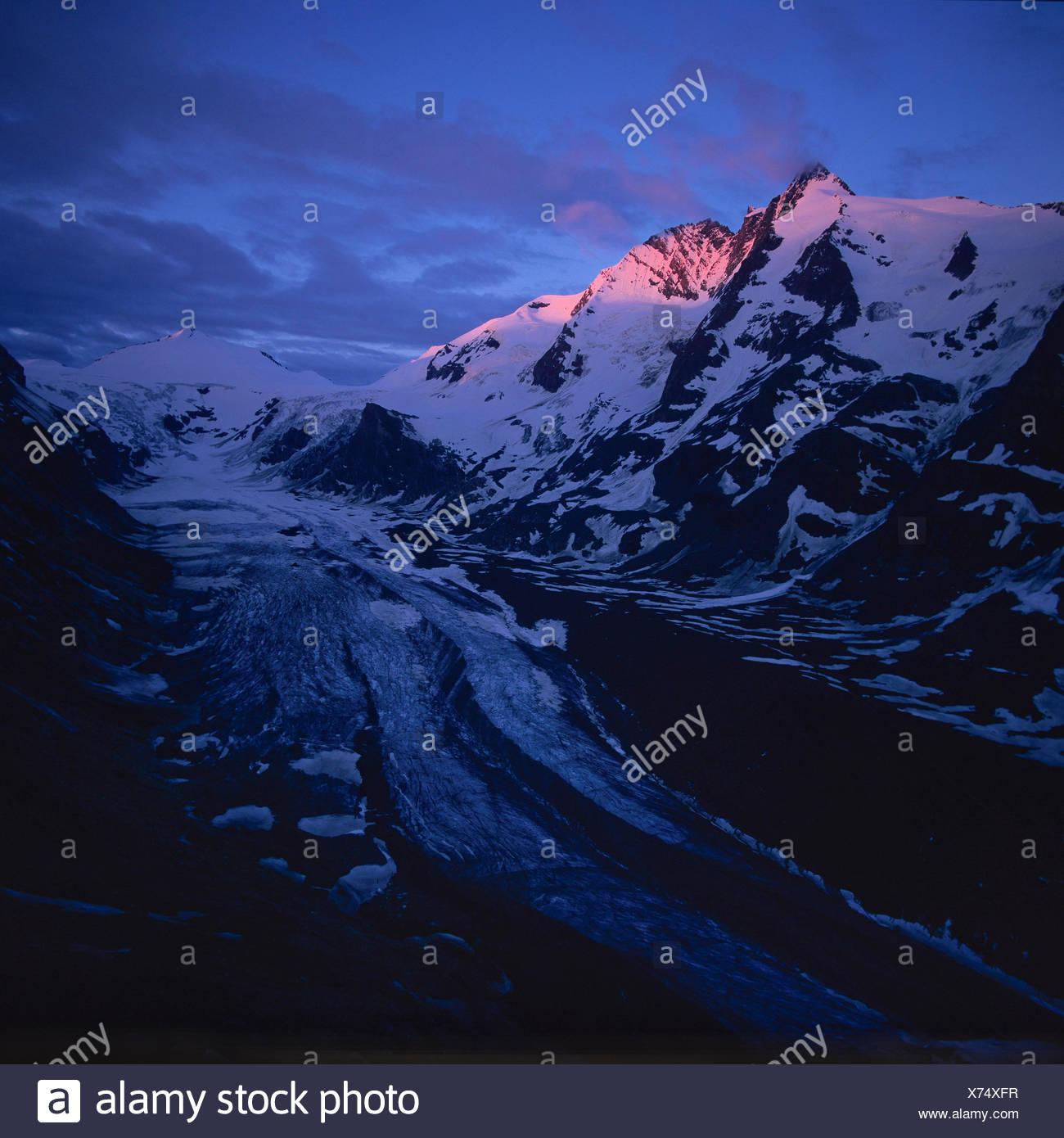 Großglockner, Nationalpark Hohe Tauern, Erstes Morgenlicht - Stock Image