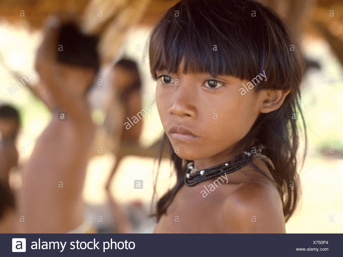 Zoro indigenous people, Brazil. - Stock Image