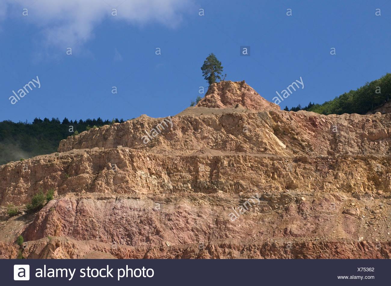 Sandstone, layered quarrying - Stock Image