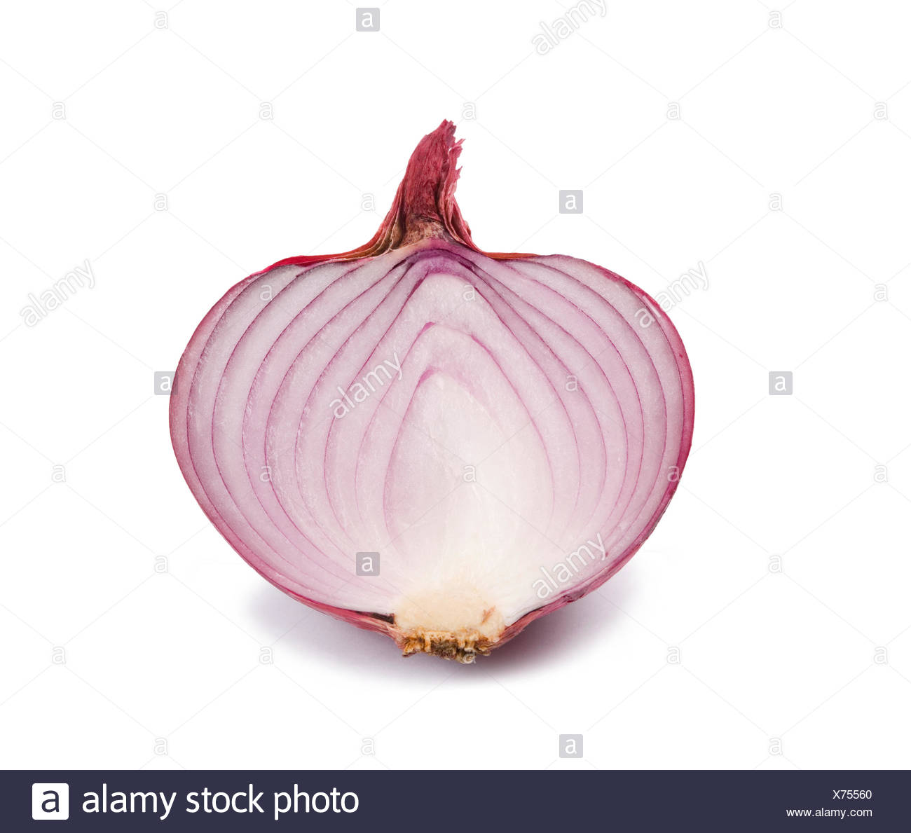 Detail of purple onion, vegetables - Stock Image