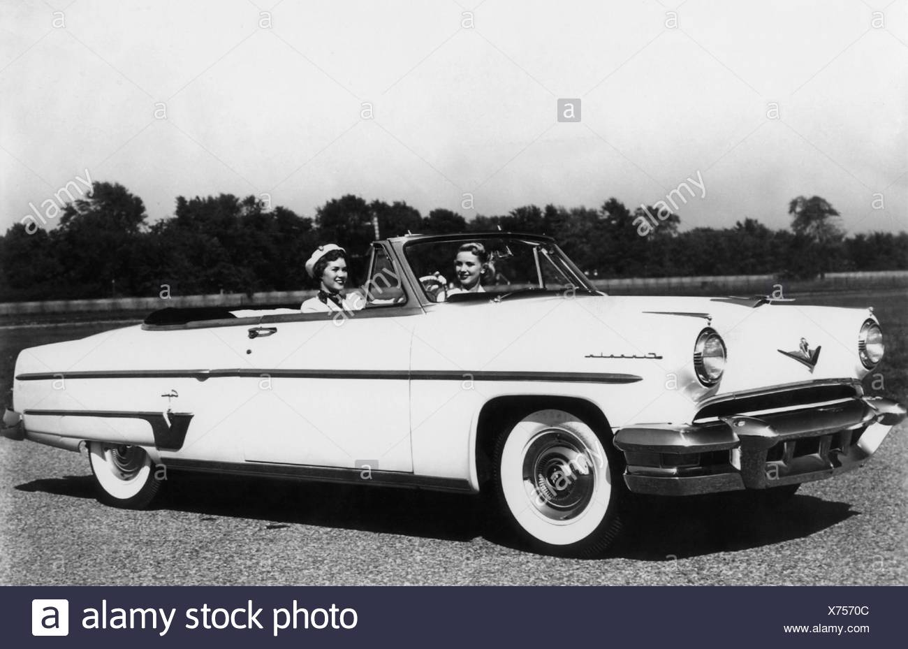 transport / transportation, car, vehicle variants, Lincoln Capri Special Custom Convertible, 1954, Additional-Rights-Clearences-NA - Stock Image