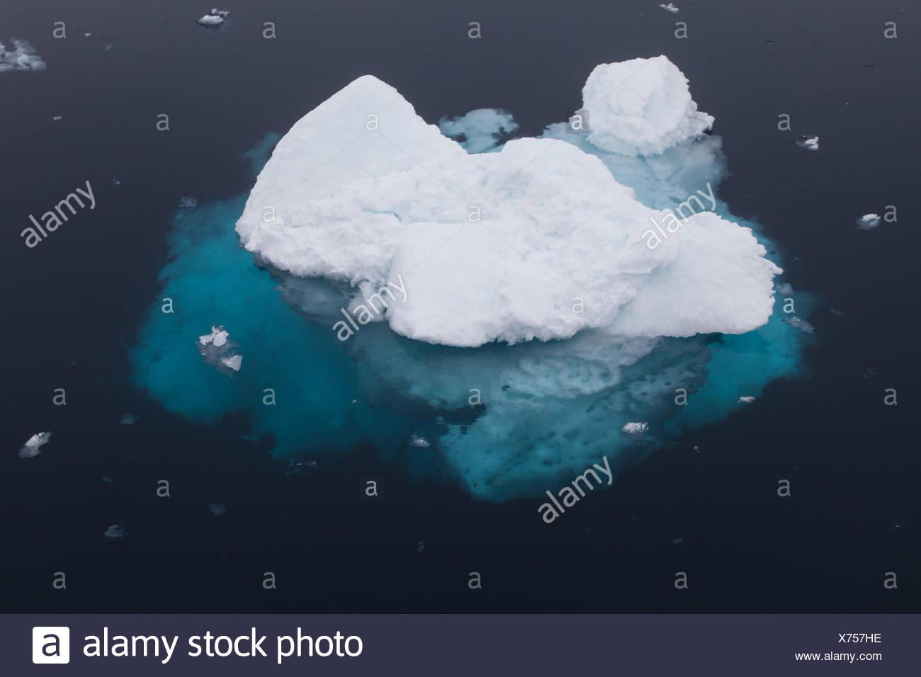 pack ice, polar region, Spitsbergen, - Stock Image