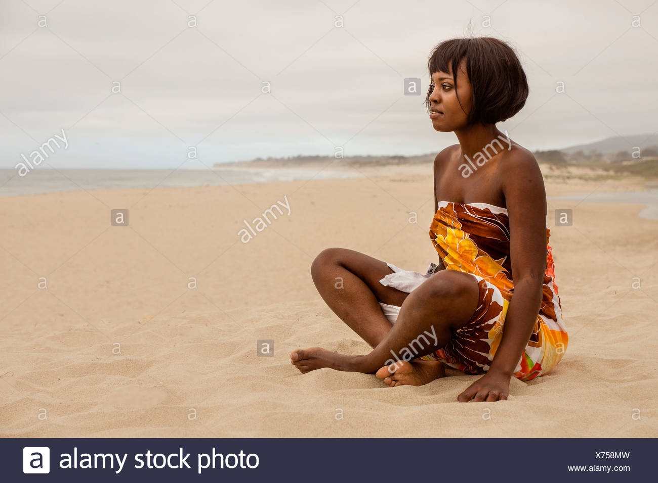Couple at the Beach - Stock Image
