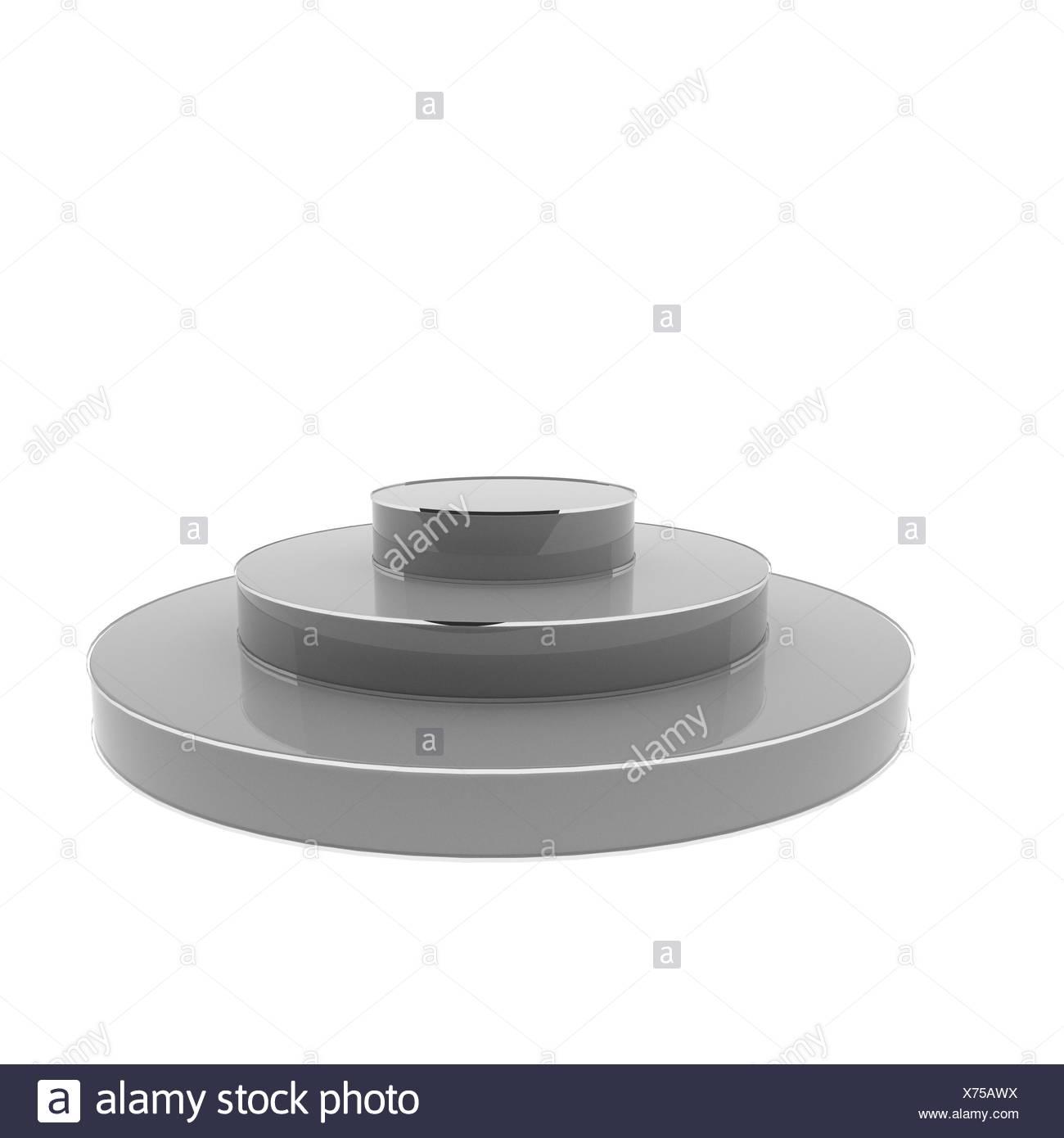 Podium isolated over white - Stock Image