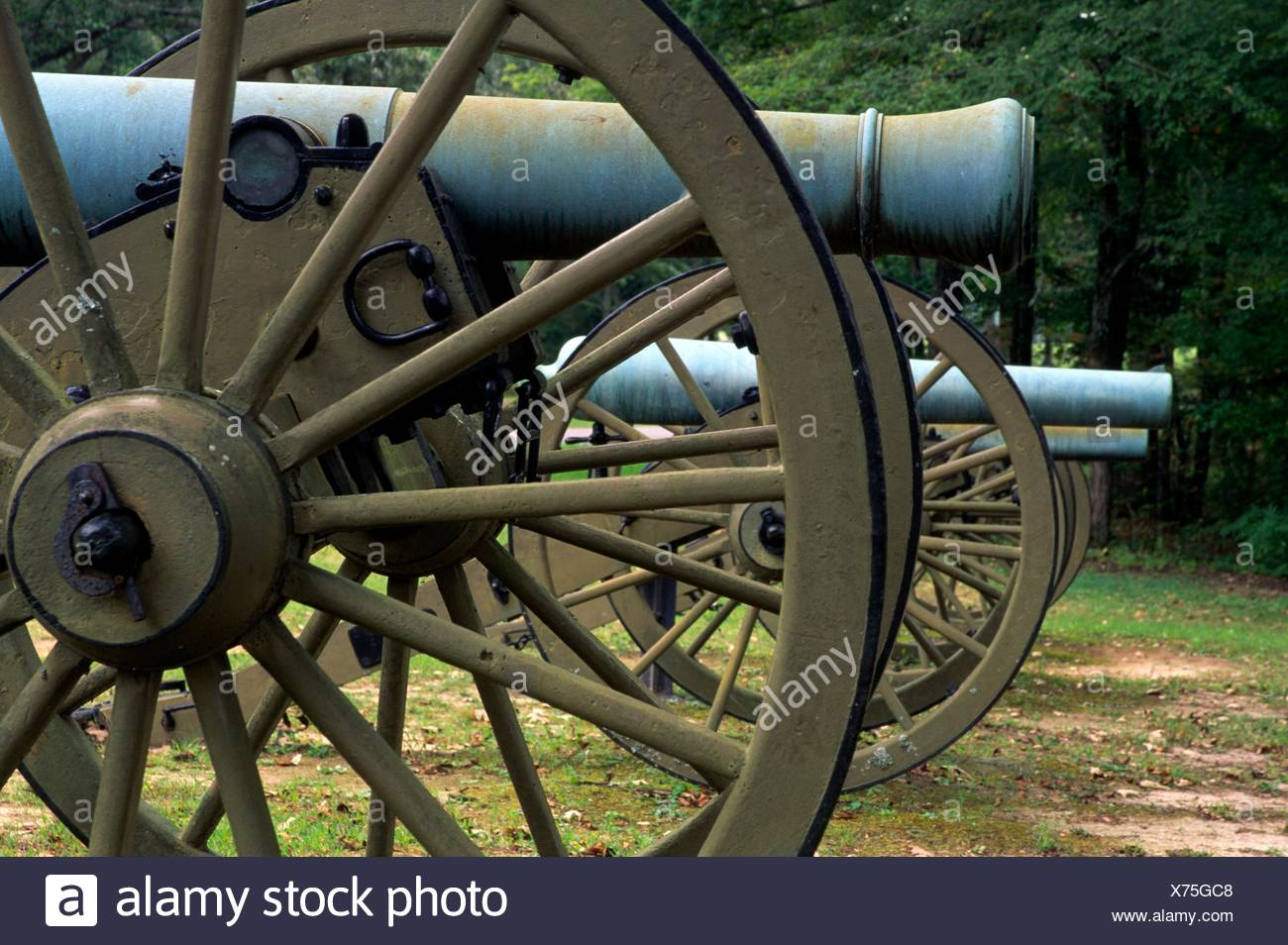Cannon, Shiloh National Military Park, Tennessee. - Stock Image