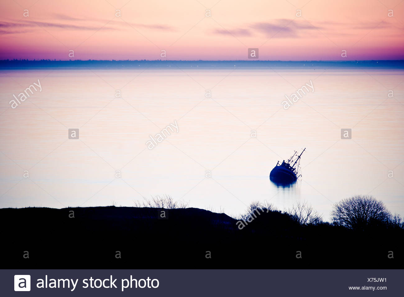 Evening by the sea - Stock Image
