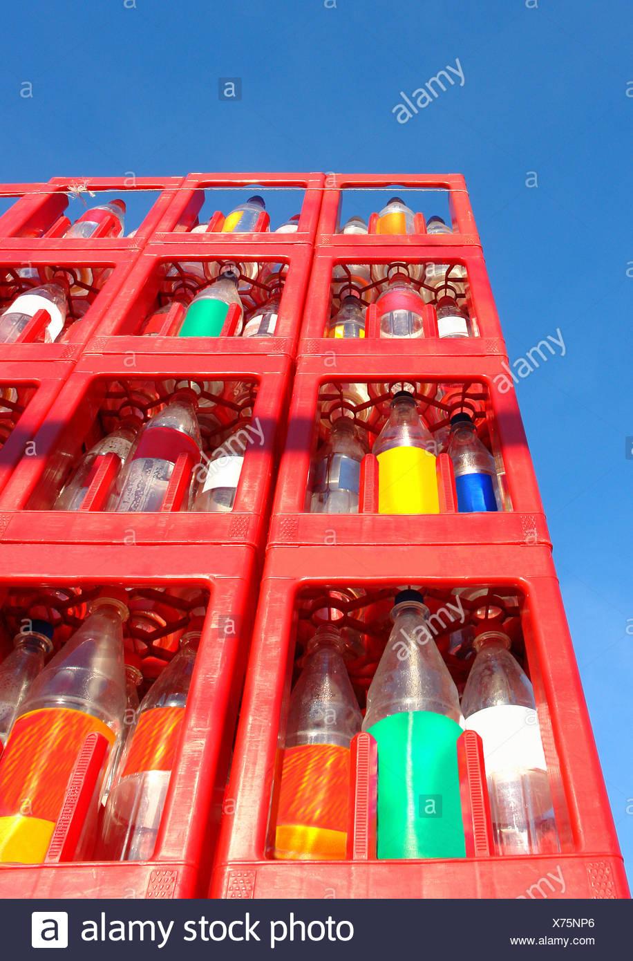 bottles empties use Stock Photo