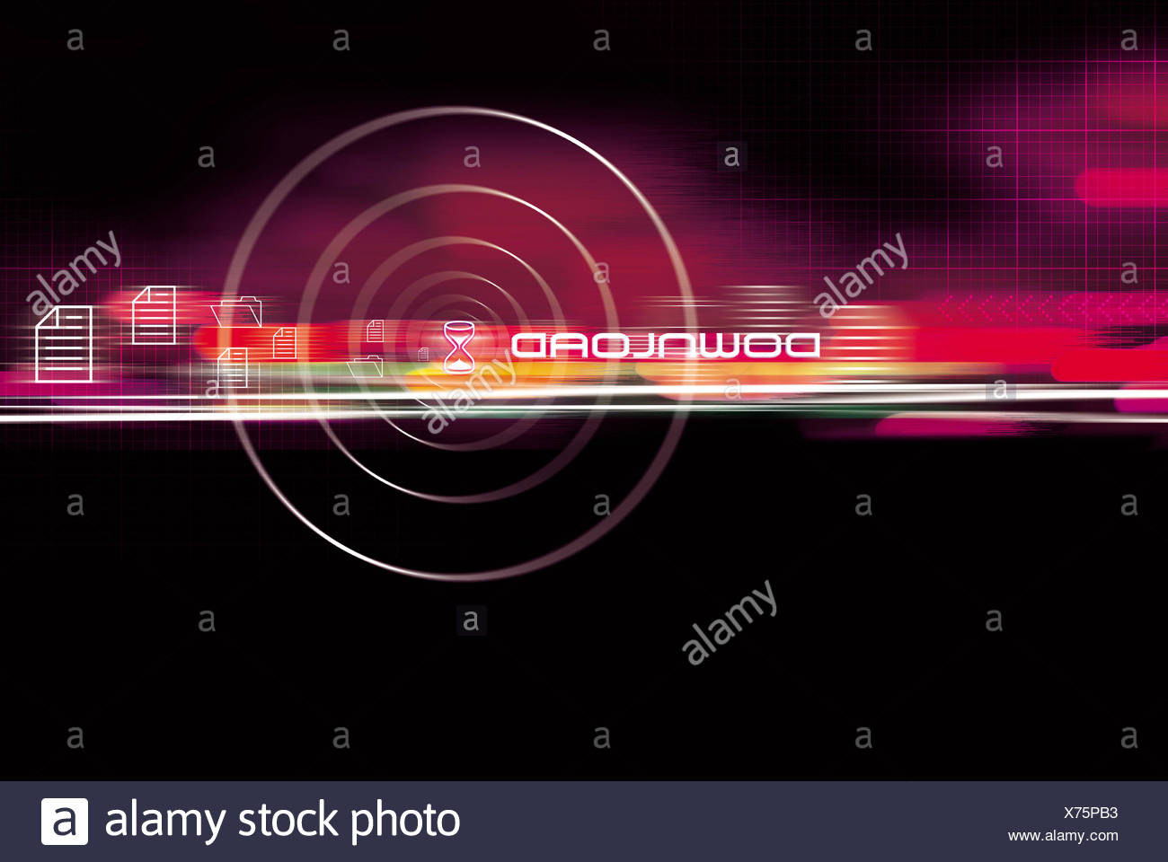digital email free - Stock Image