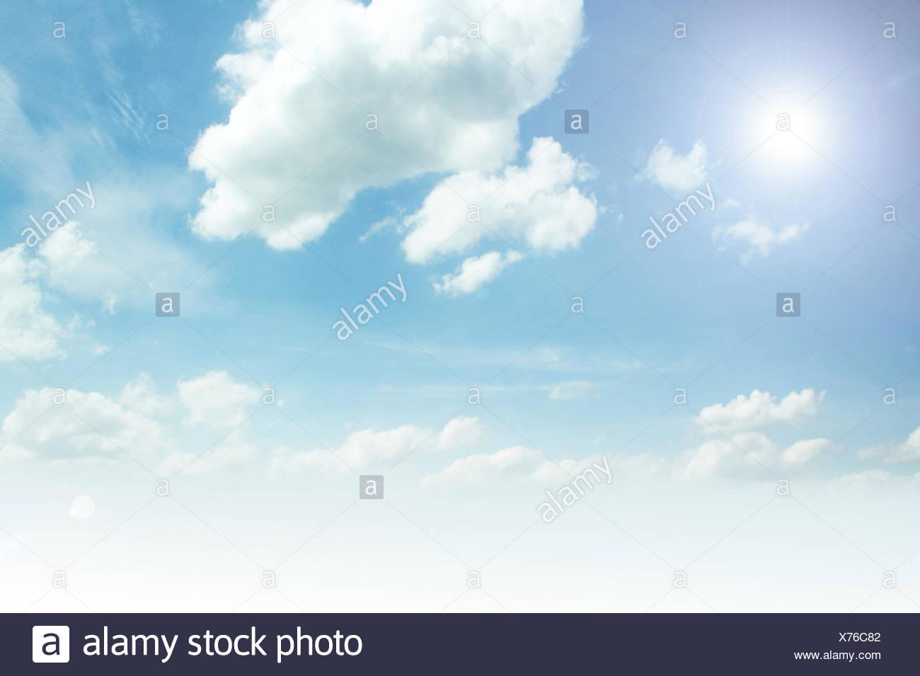 sky,cloudscape,sunlight - Stock Image