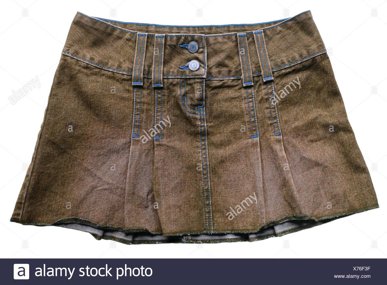Jeans skirt - Stock Image