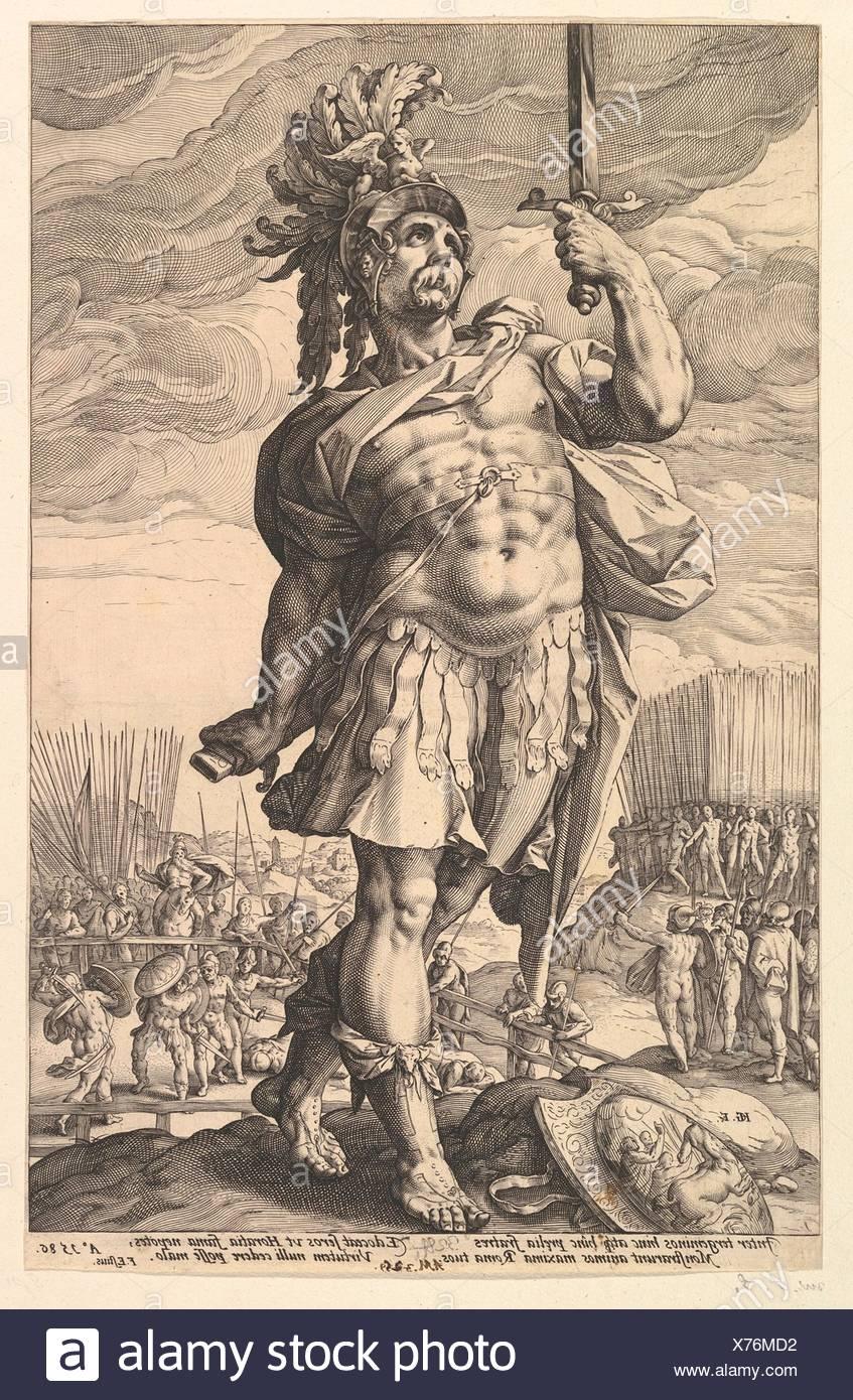 Artist: Hendrick Goltzius (Netherlandish, Mühlbracht 1558-1617 Haarlem);  Date: 1586; Medium: Engraving; Dimensions: 14 5/16 x 9