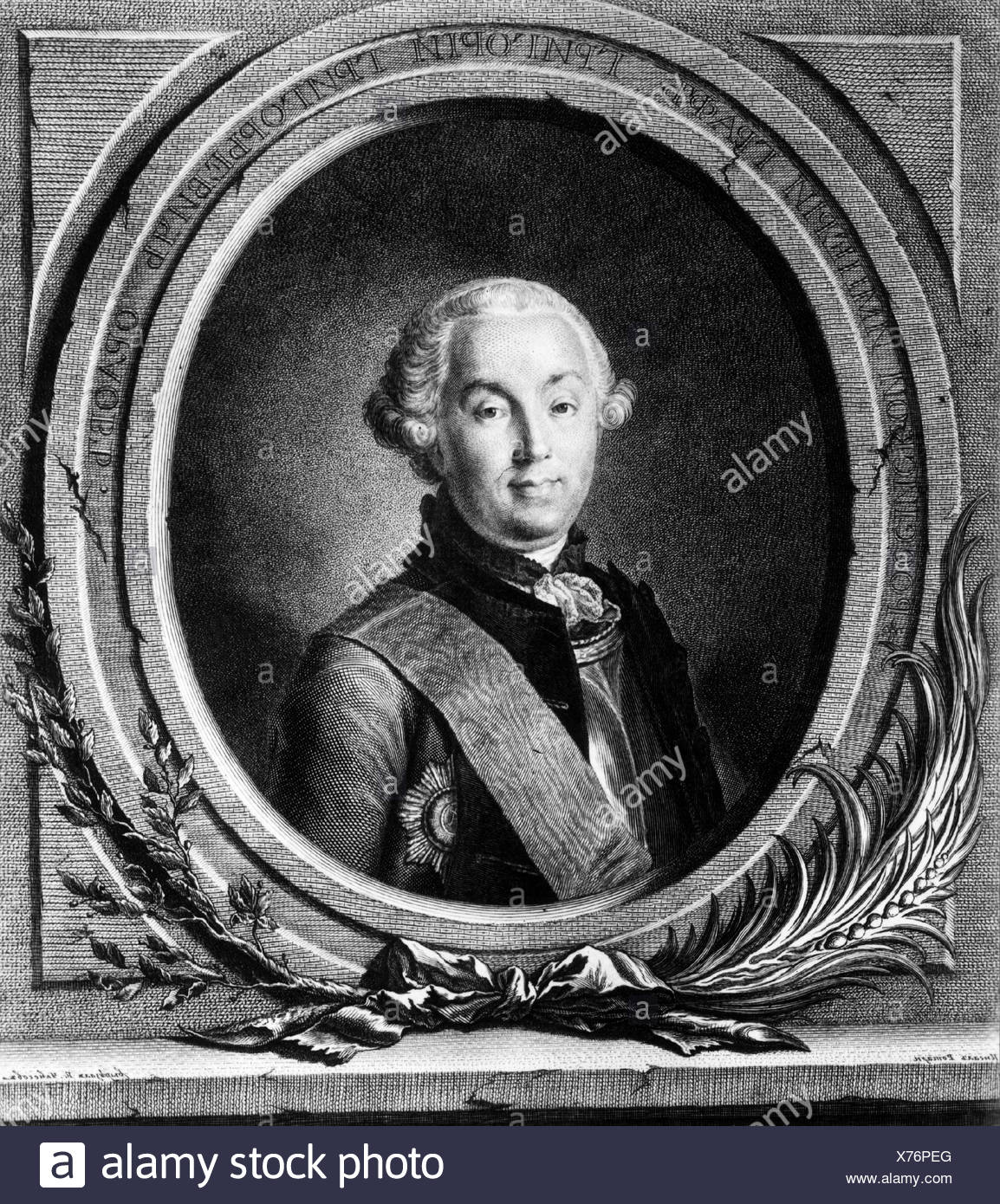 Orlov, Grigory Grigoryevich, 17.10.1734 - 24.4.1783, Russian general, portrait, copper engraving, 18th century, , Artist's Copyright has not to be cleared - Stock Image