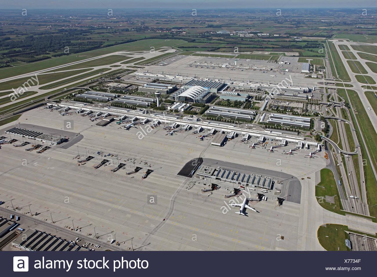 Munic airport, Germany, Bavaria, Muenchen - Stock Image