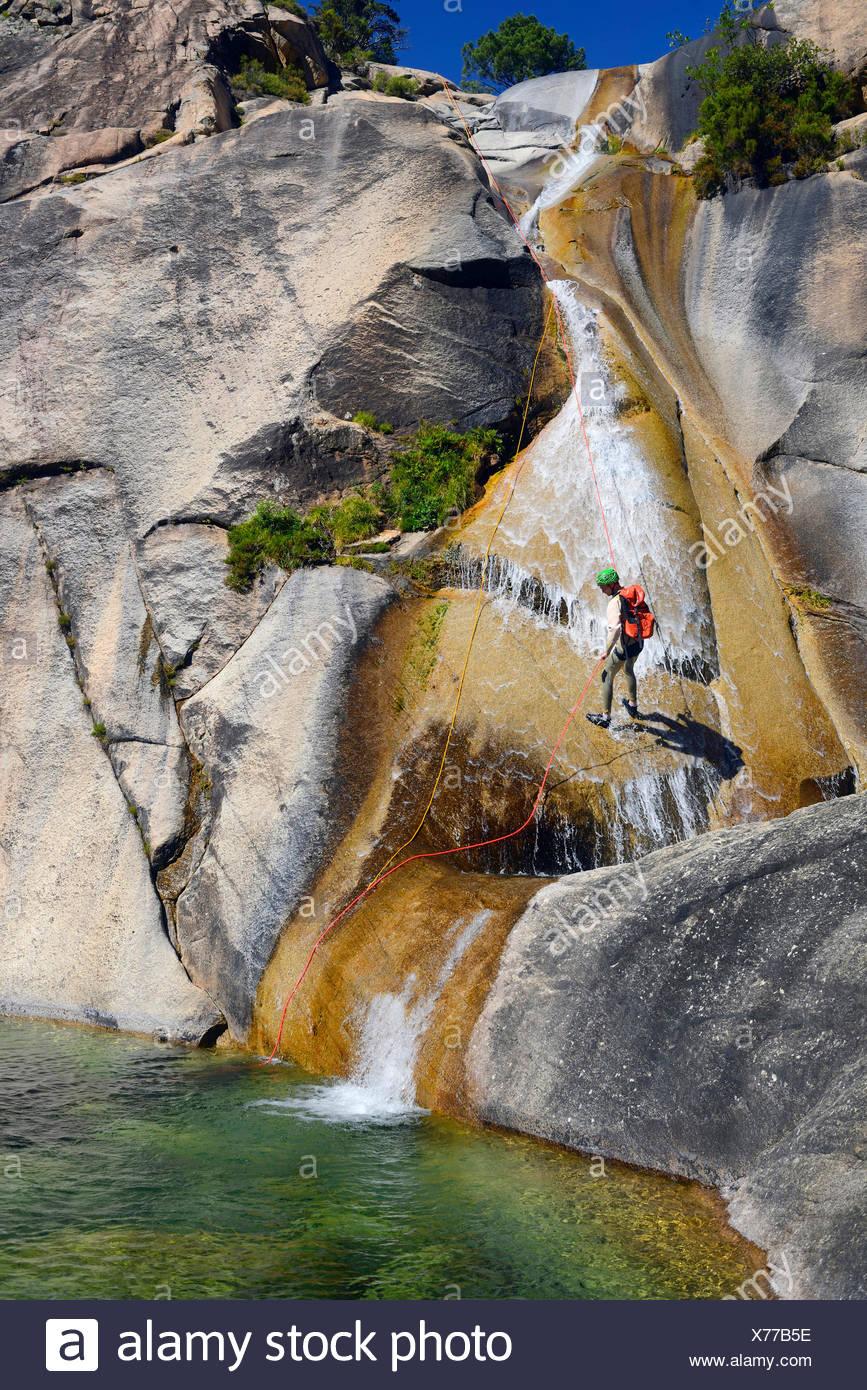 the canyon of Purcaraccia in Bavella mountains, France, Corsica - Stock Image