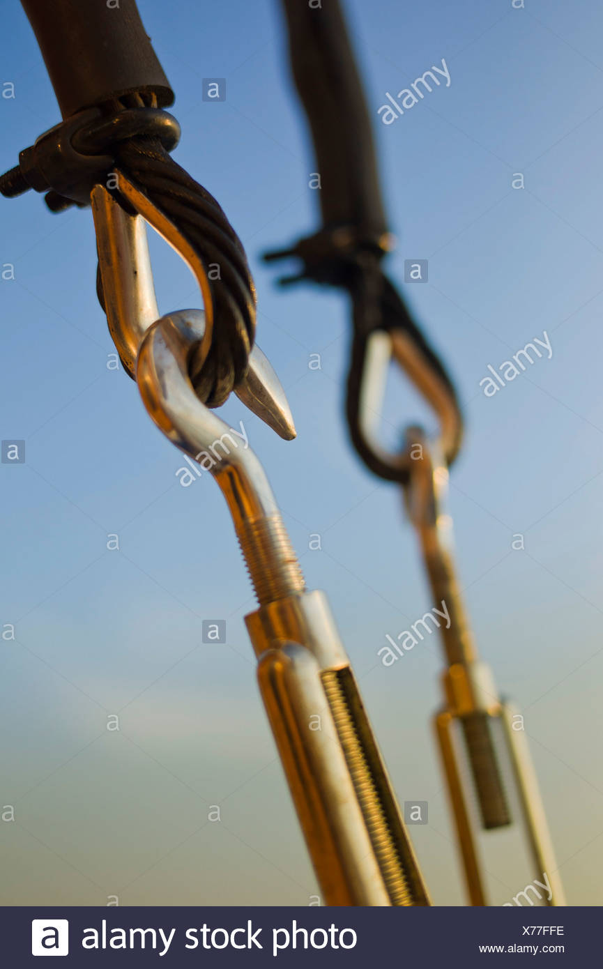 Rigging, sailing ship PHILIPPINE SIREN, Philippines, Pacific Ocean, Southeast Asia - Stock Image