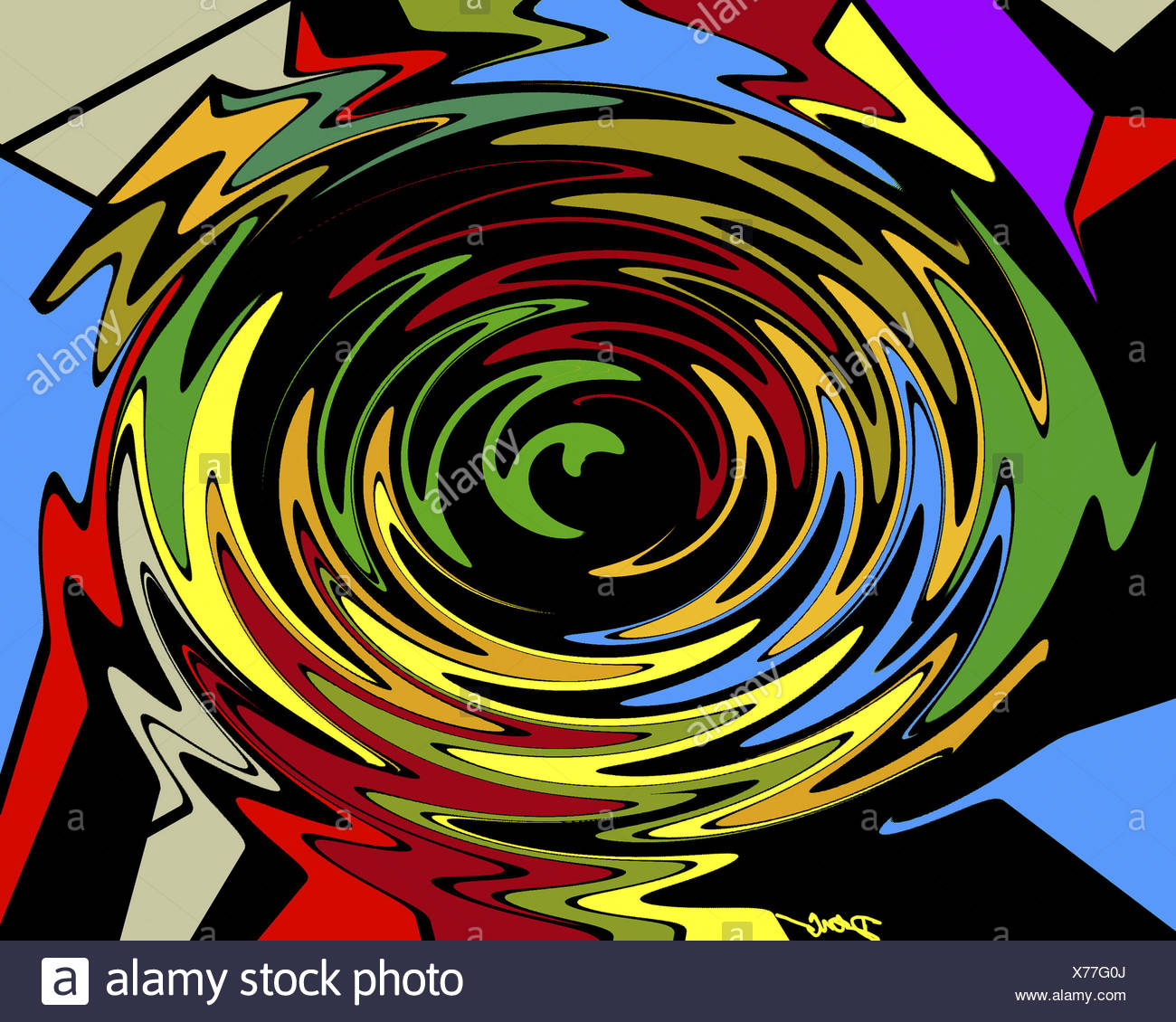 Whirlpool  2002  Diana Ong (b.1940/Chinese-American)  Computer graphics Stock Photo