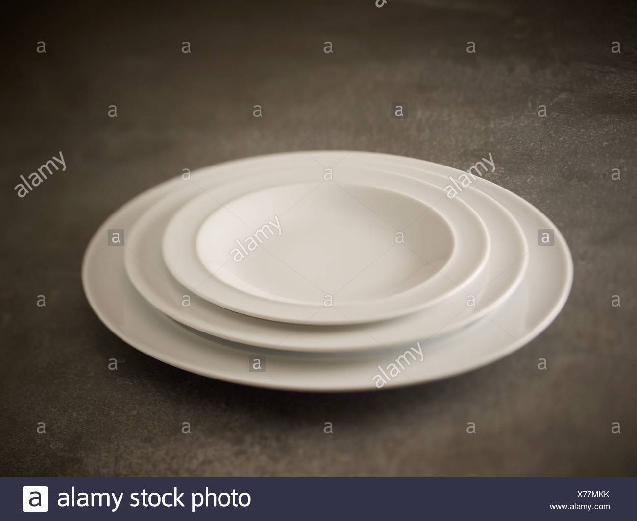 Plate stack - Stock Image