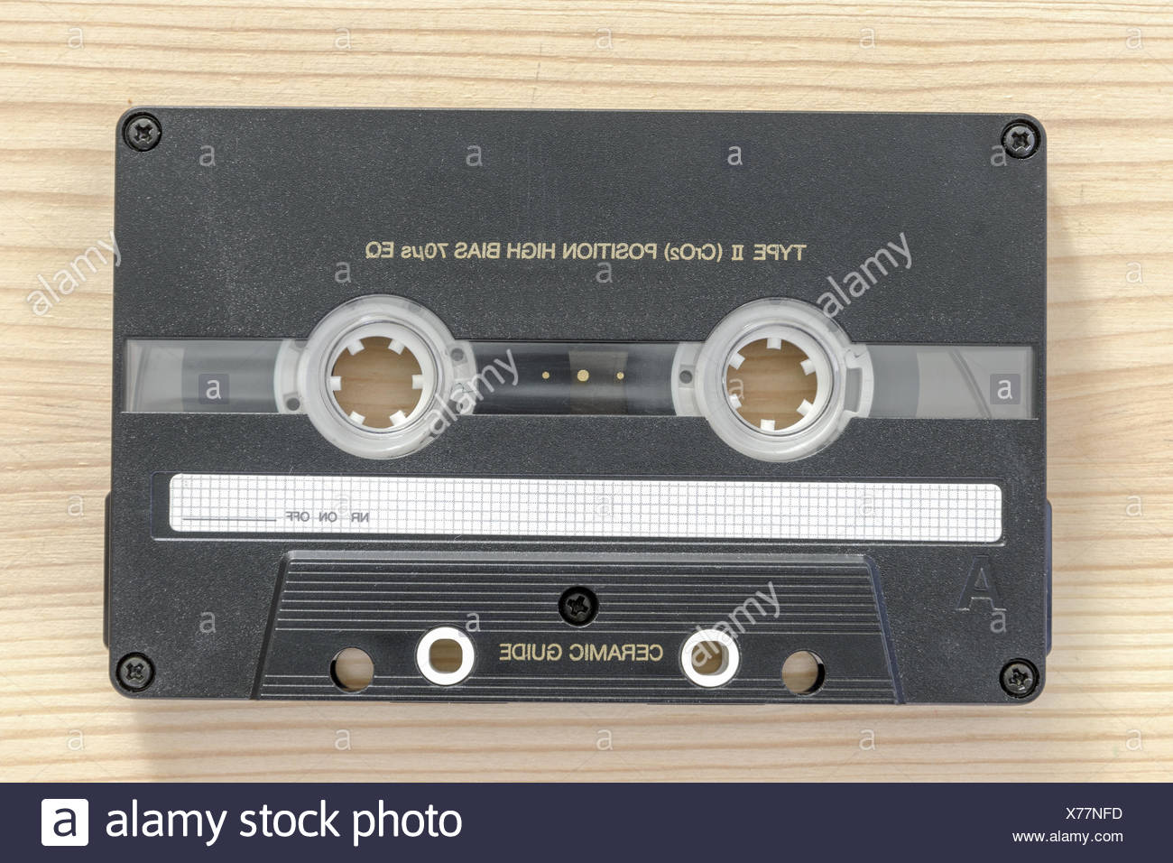 audio cassette - Stock Image