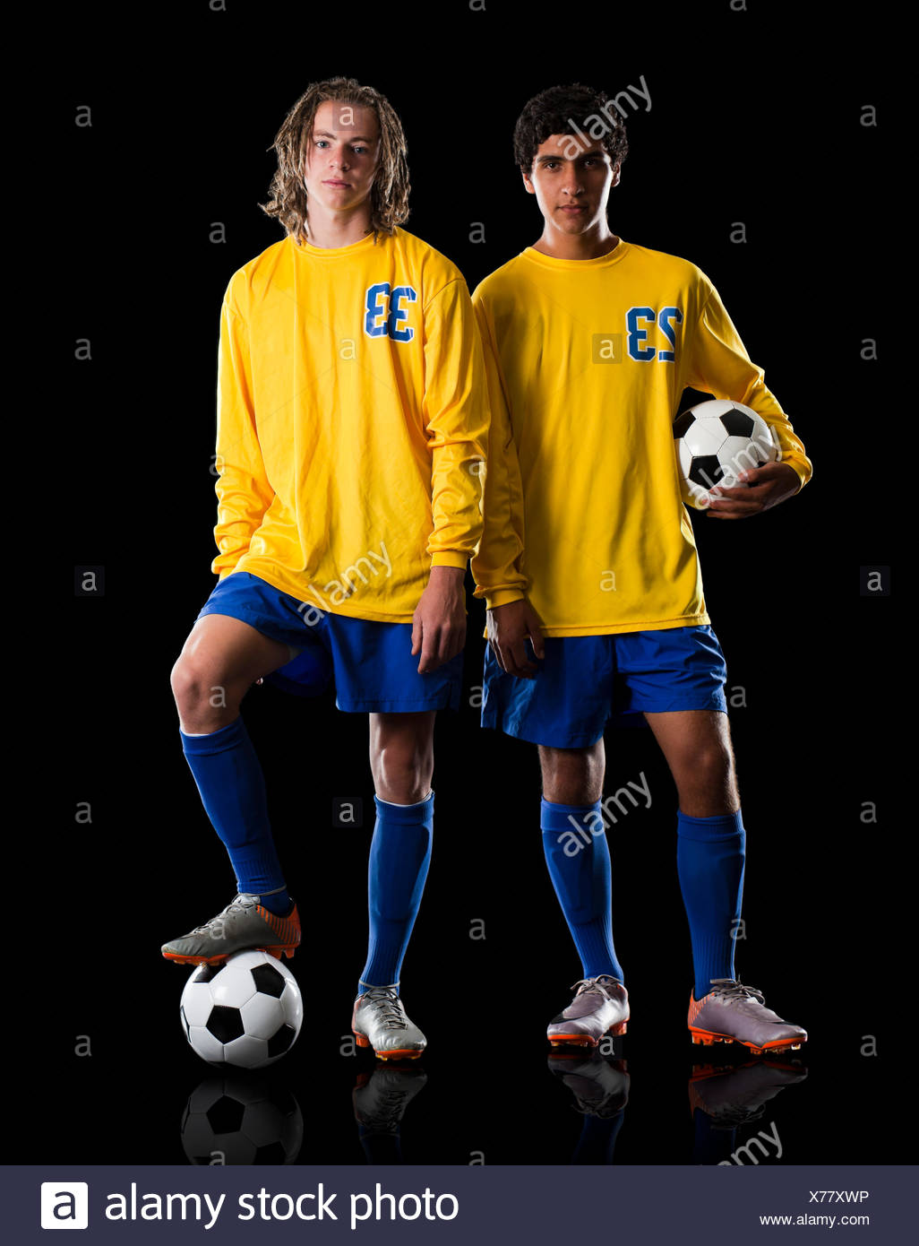 Soccer Players - Stock Image