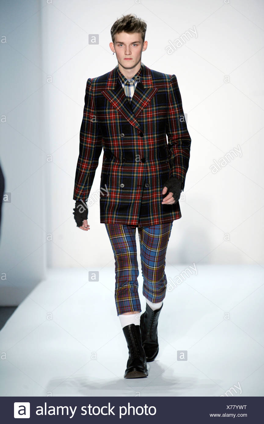 Duckie Brown New York Ready To Wear Autumn Winter Blue Red And