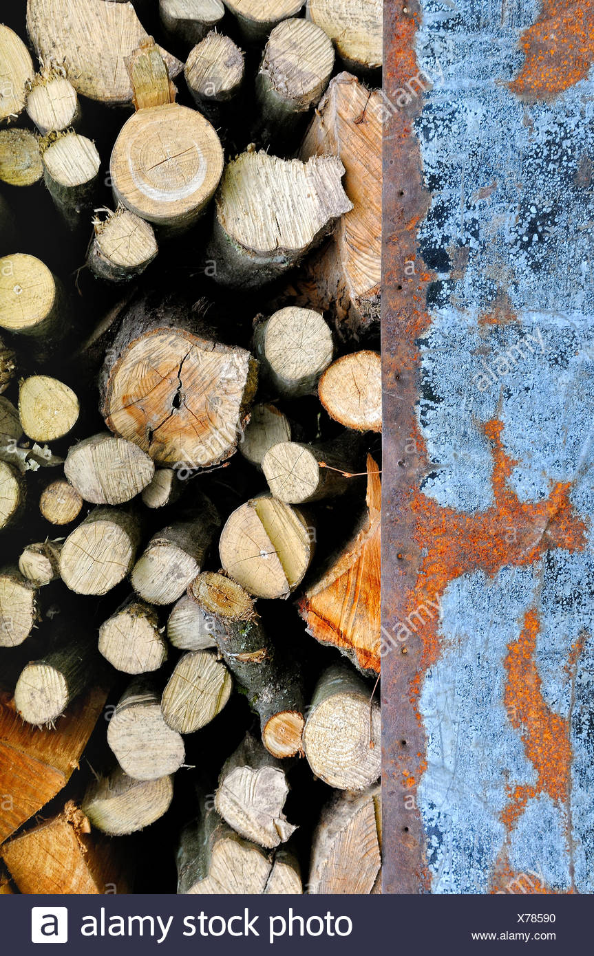 old metal and wood vertical Stock Photo