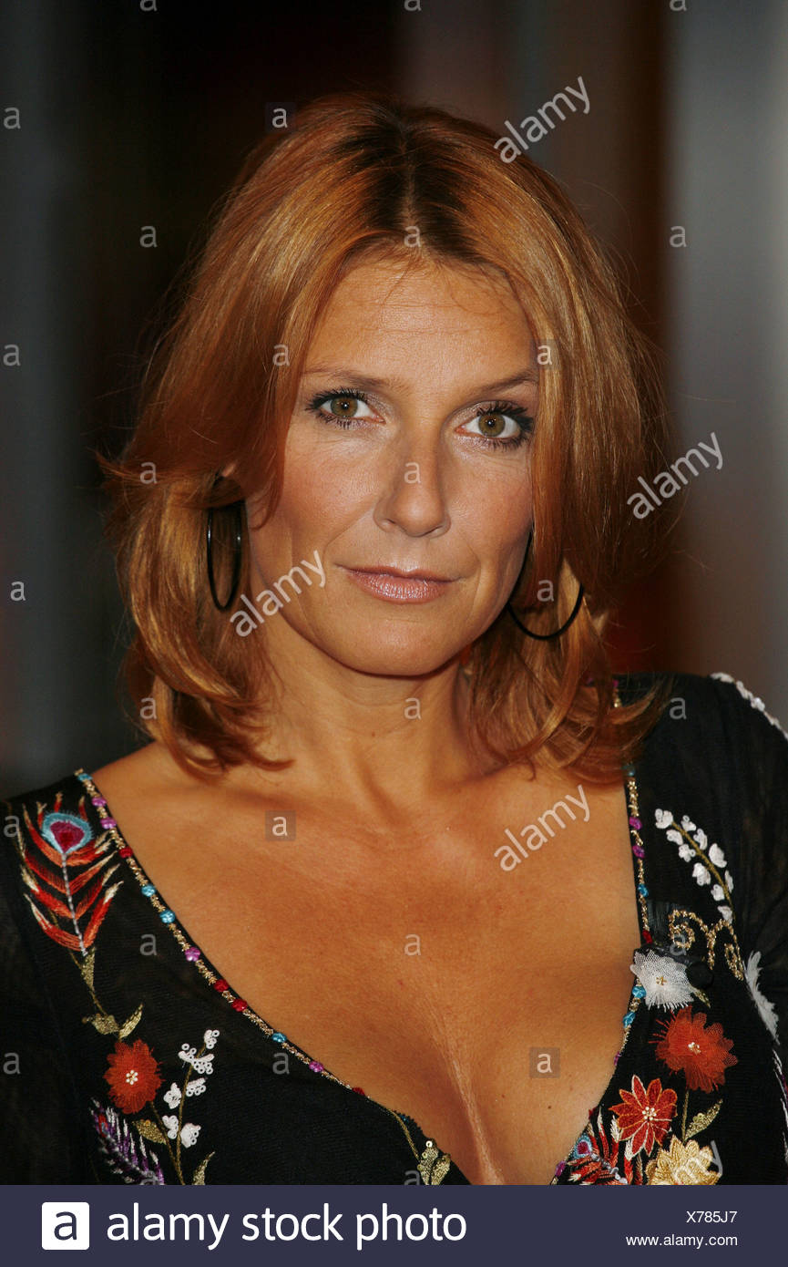 Fisher, Kim, * 17.4.1969, German moderator and singer, portrait, guest at TV show 'Johannes B. Kerner', Hamburg, 4.10.2006, Additional-Rights-Clearances-NA - Stock Image