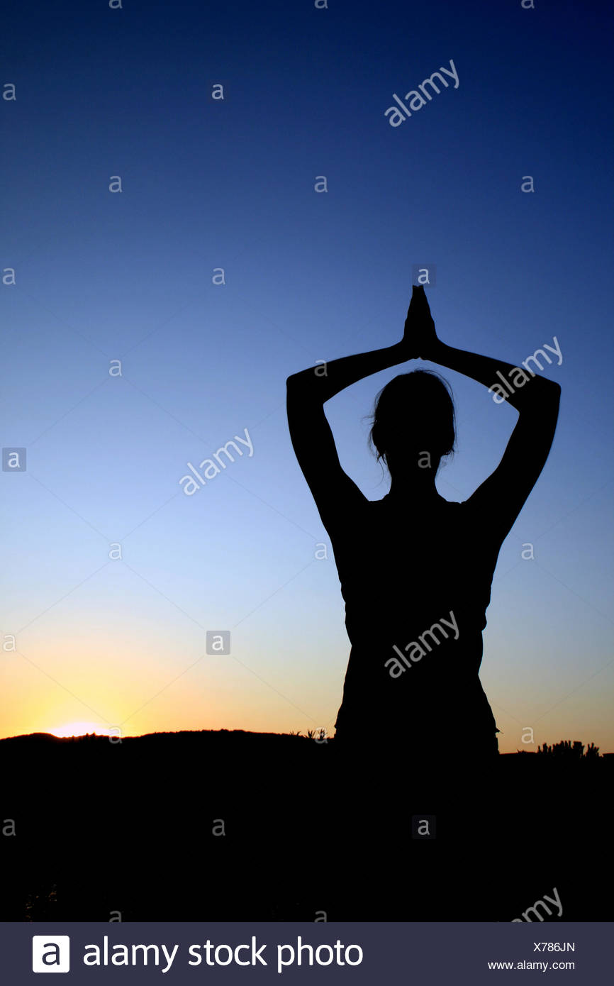 Yoga asana - Stock Image