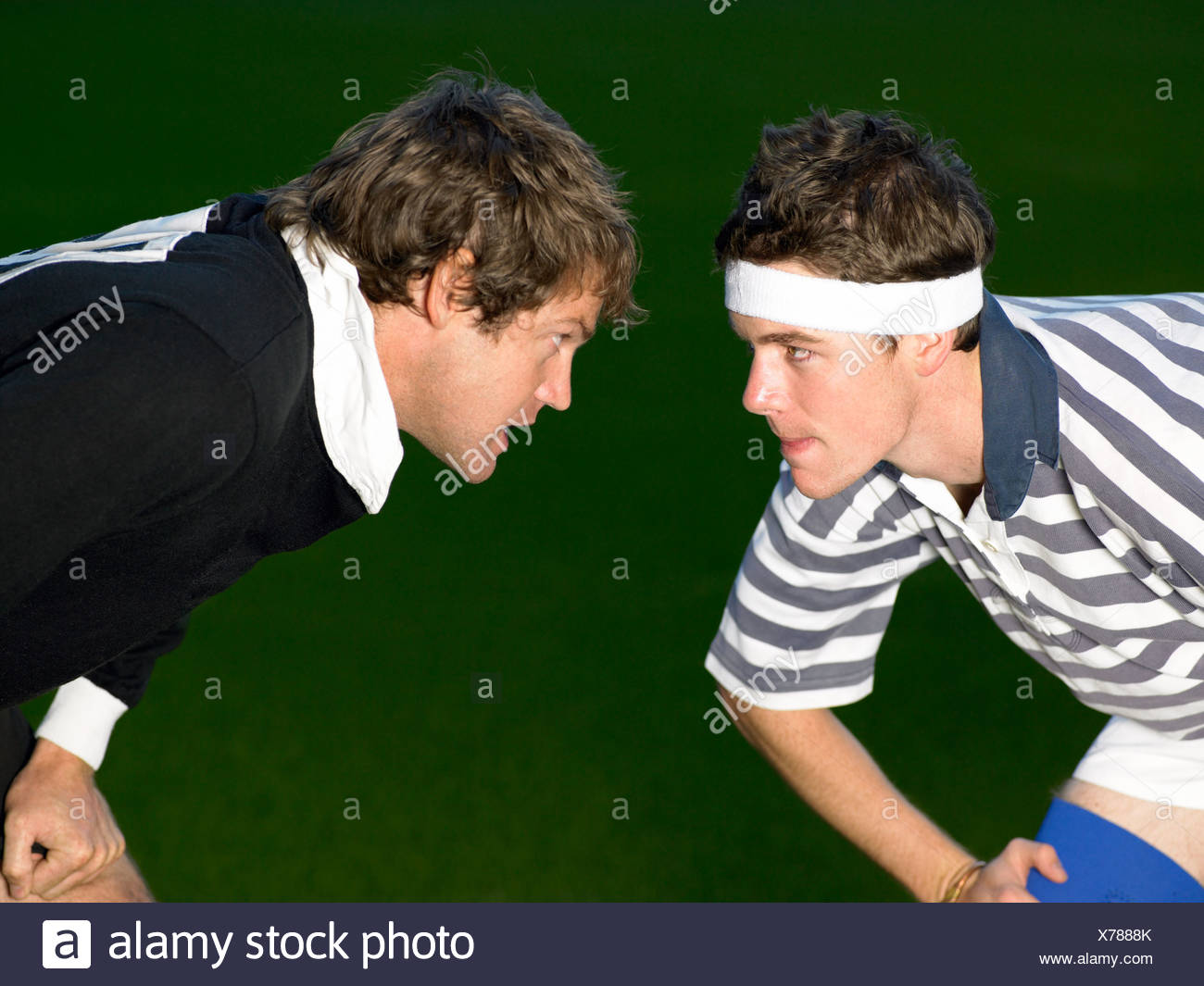 Rival rugby players - Stock Image