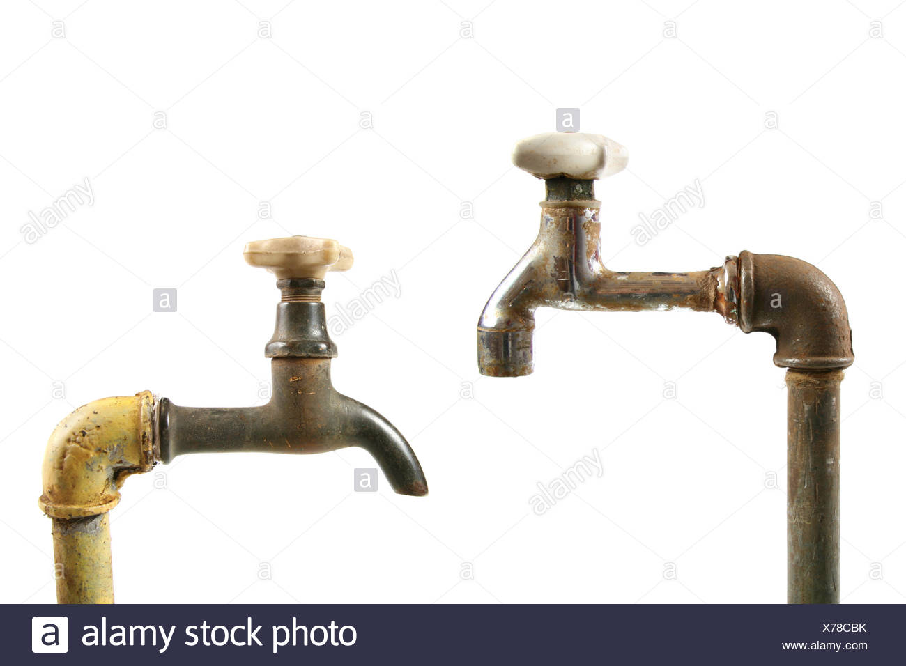 Old Taps Cut Out Stock Images & Pictures - Alamy