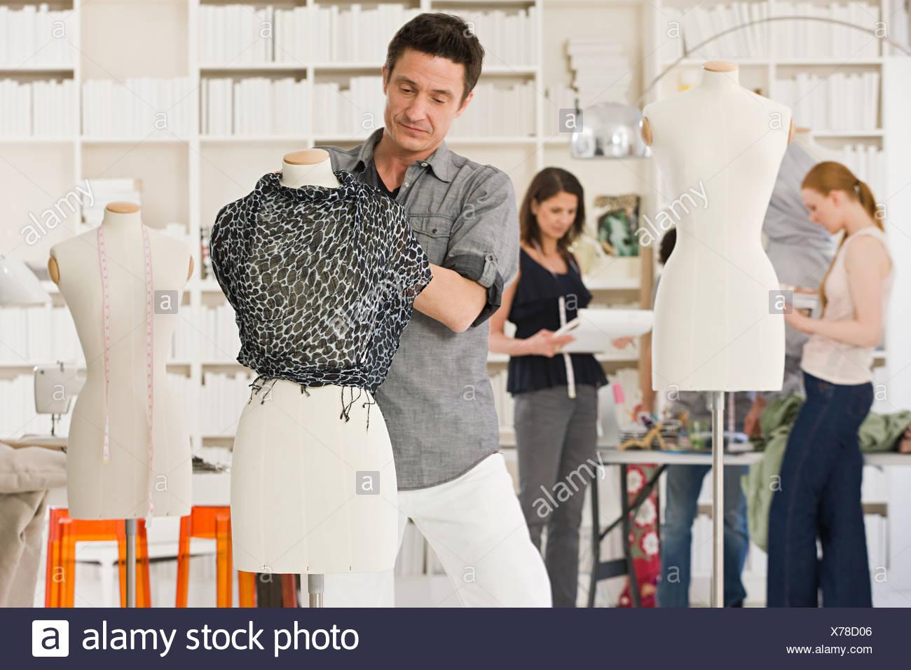 Fashion Designers At Work Stock Photo Alamy