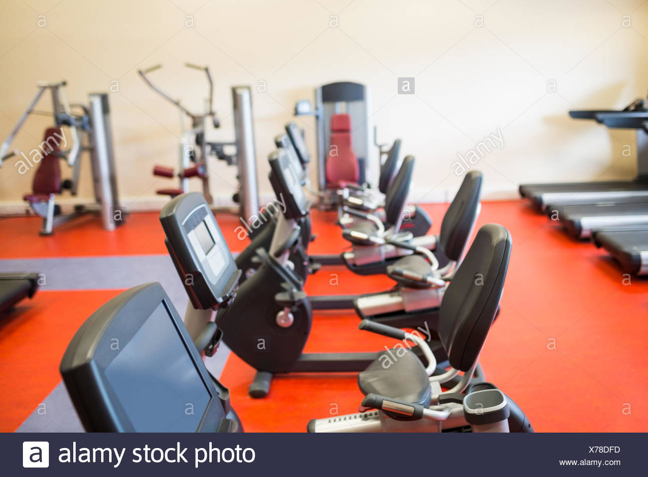 Selection of different exercise machines - Stock Image