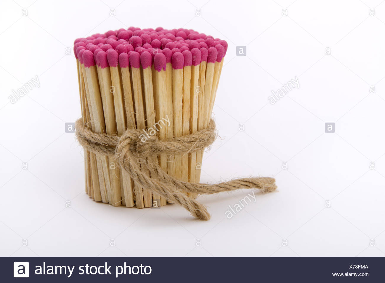 matches gathered into a tight bundle - Stock Image